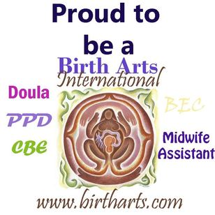 Proud to be a Birth Arts International doula